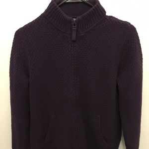 Charter Club Zip Front Sweater - Size M
